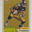 2002 Fleer Platinum Finish Antwaan Randle El Steelers /100 RC