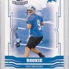 2005 Throwback Threads Dan Orlovsky Colts Lions  /999 RC