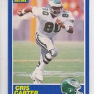 1989 Score Cris Carter Eagles Vikings RC