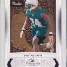 2009 Donruss Classics Vontae Davis Dolphins /999 RC