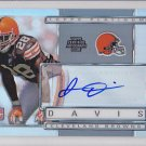 2009 Topps Platinum Autograph James Davis Browns /1050 RC
