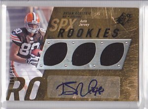 2009 SPX Jersey Autograph Brian Robiskie Browns /549 RC