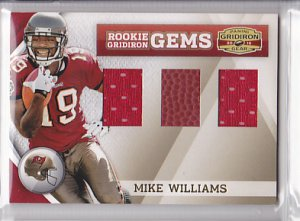 2010 Gridiron Gear Trio Jersey Ball Mike Williams Bucs /50 RC