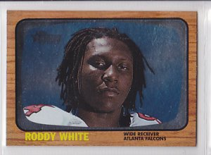 2005 Topps Heritage Foil Roddy White Falcons RC