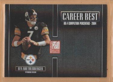 2005 Donruss Elite Career Best Black Ben Roethlisberger Steelers /250