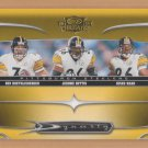 2006 Donruss Threads Dynasty Ben Roethlisberger Steelers w/ Jerome Bettis Hines Ward