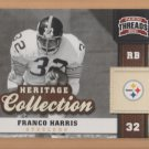 2011 Panini Threads Heritage Collection Franco Harris Steelers
