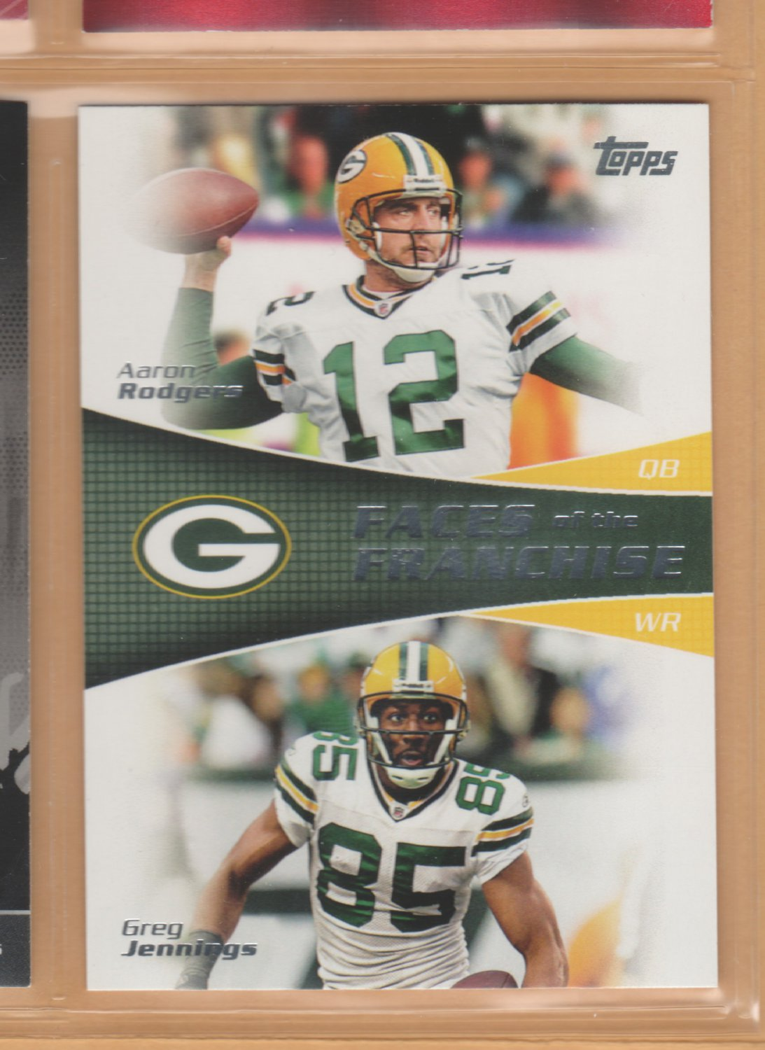 2011 Topps Faces of the Franchise Aaron Rodgers Greg Jennings Packers