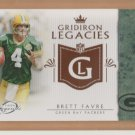 2011 Topps Legends Gridiron Legacies Brett Favre Packers