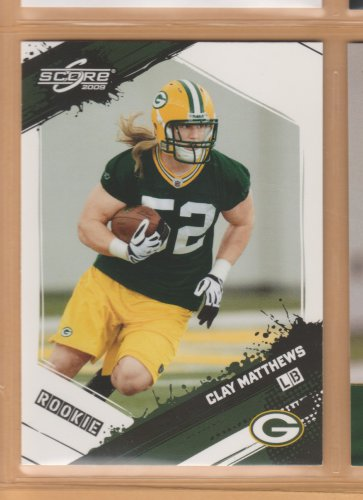 2009 Score Glossy Rookie Clay Matthews RC Packers