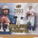 2009 Upper Deck College to Pros Tony Romo Cowboys