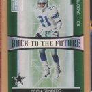 2006 Donruss Elite Back to the Future Deion Sanders Cowboys /1000 w/ Roy Williams