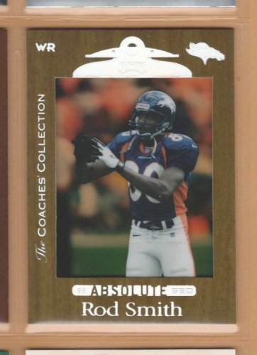 1999 Playoff Absolute SSD Coach's Collection Gold Rod Smith Broncos /500
