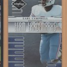 2008 Leaf Limited Team Trademarks Earl Campbell Oilers /999