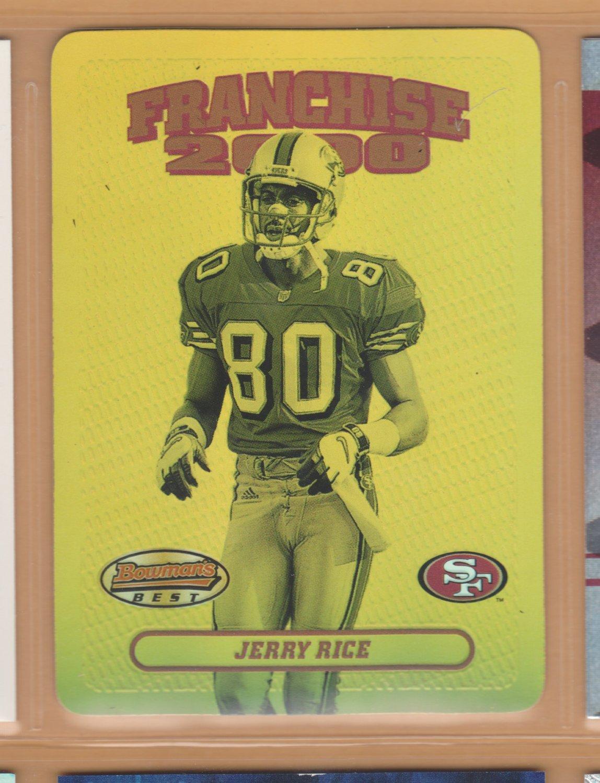 2000 Bowmans Best Franchise 2000 Jerry Rice 49ers