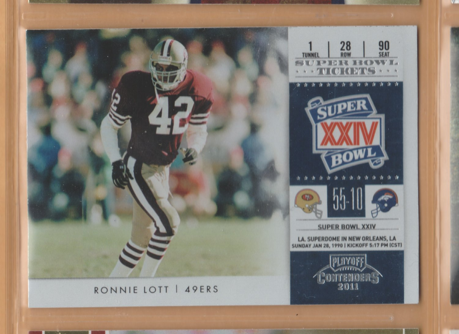 2012 Playoff Contenders Super Bowl Tickets Ronnie Lott 49ers