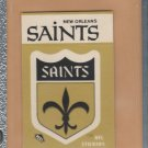 1983 Fleer Mini Sticker New Orleans Saints w/ Schedule on Back