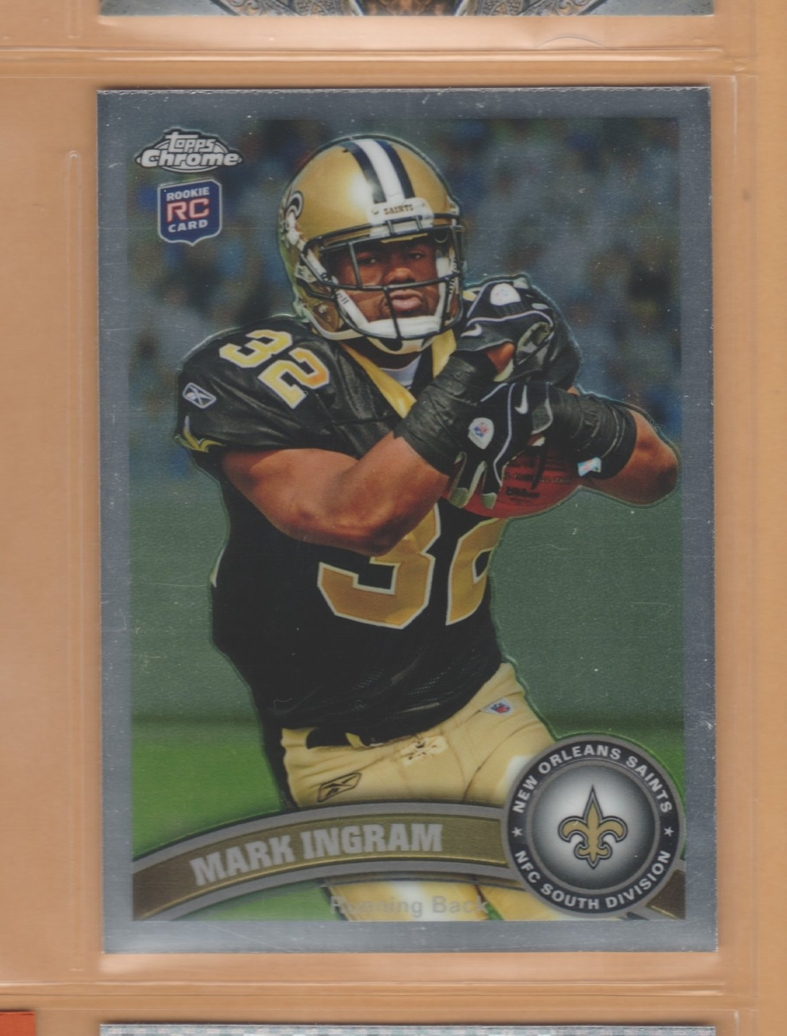 2011 Topps Chrome Rookie Mark Ingram Saints RC