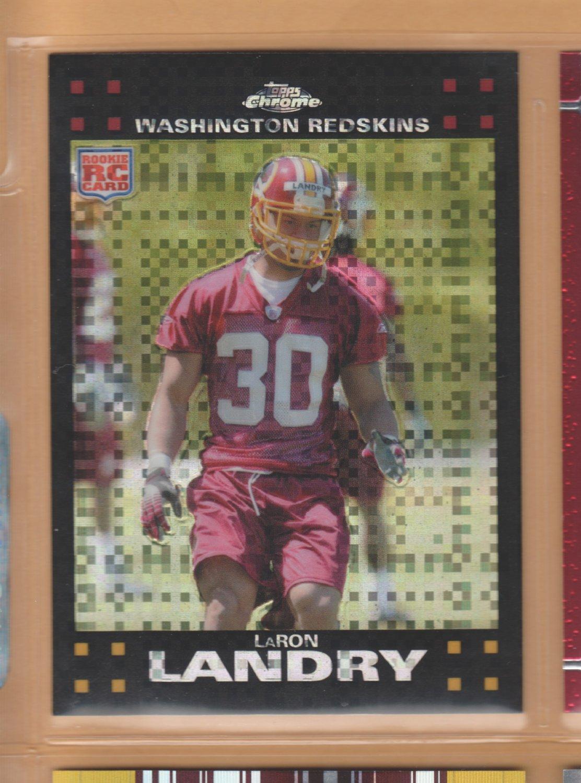 2007 Topps Chrome Xfractor Rookie LaRon Landry Redskins