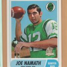1996 Topps Joe Namath Reprints 1968 Reprint Jets
