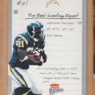 2003 Fleer Platinum Scouting Report LaDainian Tomlinson Chargers /100