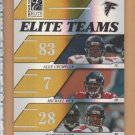 2006 Donruss Elite Teams Alge Crumpler Michael Vick Warrick Dunn Falcons /250