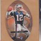 "2003 Upper Deck Standing ""O"" Football Die Cut Tom Brady Patriots"