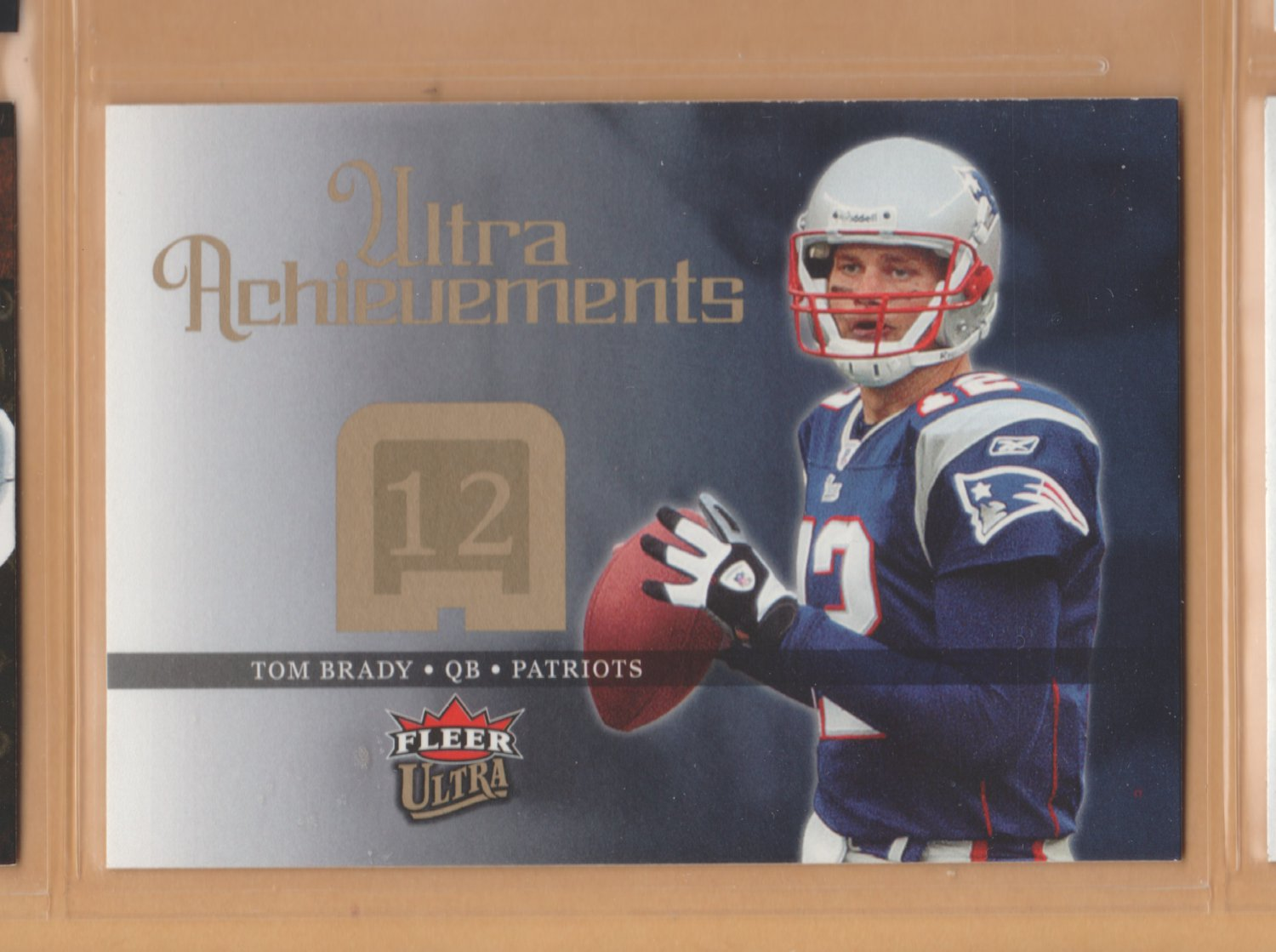 2006 Fleer Ultra Achievements Tom Brady Patriots