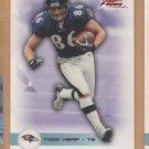2003 Fleer Focus Numbers Century Red Todd Heap Ravens /100