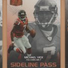 2006 Flair Showcase Sideline Pass Michael Vick Falcons /999