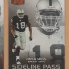 2006 Flair Showcase Sideline Pass Randy Moss Raiders /999