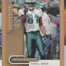 2005 UD Foundations Exclusive Gold Terrell Owens Eagles /99