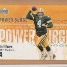 2002 Upper Deck Power Surge Brett Favre Packers
