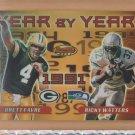 2000 Bowmans Best Year by Year Brett Favre Packers /w Ricky Watters