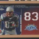2008 Topps Chrome NFL Dynasties Deion Branch Patriots