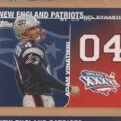 2008 Topps NFL Dynasties Adam Vinatieri Patriots