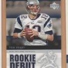2005 UD Rookie Debut Tom Brady Patriots