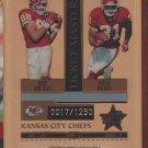 2005 Leaf Rookie & Stars Ticket Masters Tony Gonzalez Priest Holmes Chiefs /1250