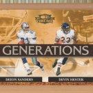 2007 Donruss Threads Generations Deion Sanders Cowboys Devin Hester