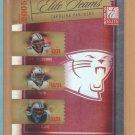 2005 Donruss Elite Teams Red Jake Delhomme Steve Smith Stephen Davis Panthers /500