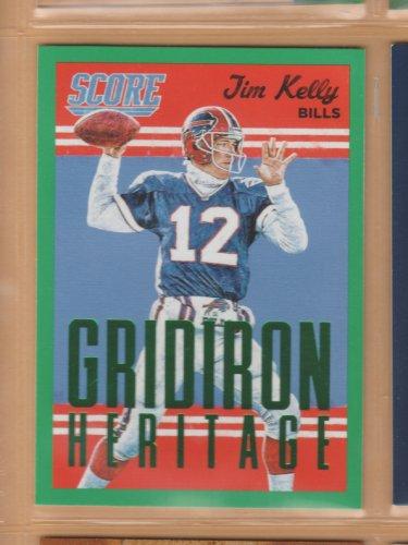 2015 Score Gridiron Heritage Green Jim Kelly Bills