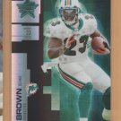 2007 Leaf Rookie & Stars Longevity Black Holofoil Ronnie Brown Dolphins /25