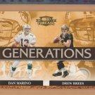 2007 Donruss Threads Generations Dan Marino Dolphins Drew Brees Saints