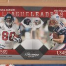 2010 Prestige League Leaders Andre Johnson Texans Wes Welker Patriots