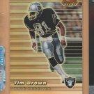 1999 Bowmans Best Refractor Tim Brown Raiders /400