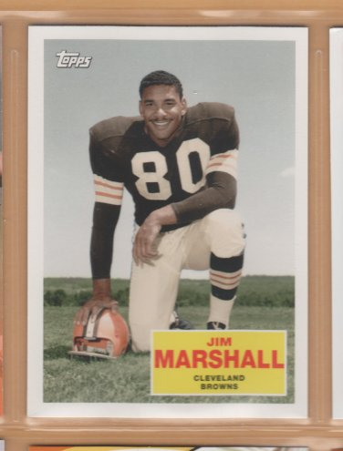 2009 Topps Flashback Jim Marshall Browns