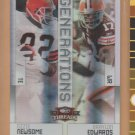2009 Threads Generations Foil Ozzie Newsome Braylon Edward Browns /100