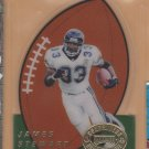 1995 Playoff Contenders Rookie Kick Off Die Cut James Stewart RC Jaguars