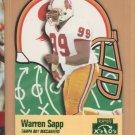 1996 Playoff Prime X's & O's Die Cut Warren Sapp Buccaneers
