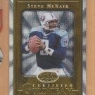 2000 Leaf Certified Gold Team Steve McNair Titans